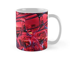 mugs glass cups red light