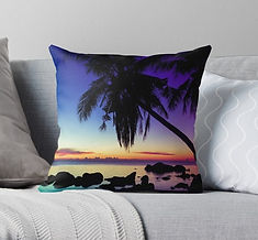 pillow cushions sunset landscape Thailand