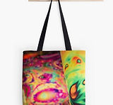 tote bags abstract colorful design