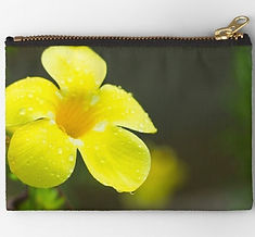 stuio pouches yellw flower design