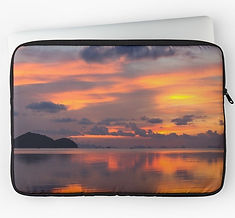 latop sleeves thailand orange sunset