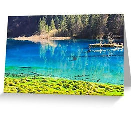 Greeting cards Jiuzhaigou National Park