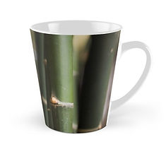 tall mugs green bamboo canes design