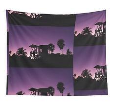 Wall tapestries Caribean baywatch sunset