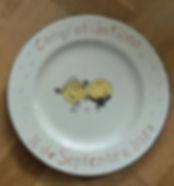 A Lovely hand painted plate made for a w