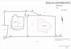 Skizze zur Grenzniederschrift