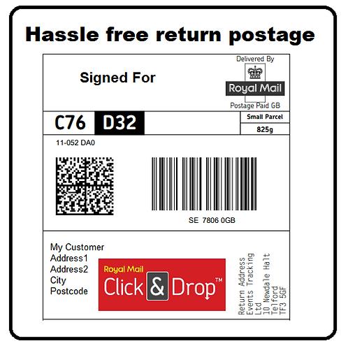 Insured, Return Postage Label