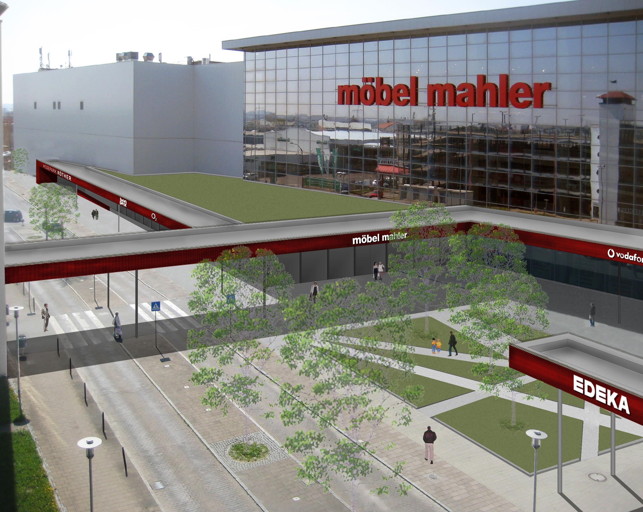 Perspektive Eingang Mahler - von oben