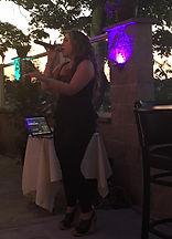 Christiana Rodi singing at Trattoria Del Mare Oyster Bar, Providence, RI