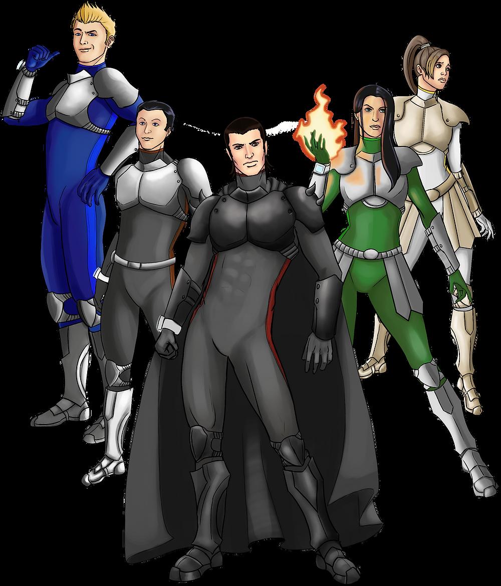Comic Book Hero cast