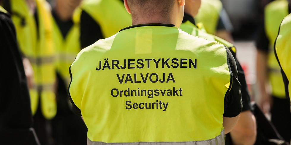 Järjestyksenvalvojan peruskurssi 40h/ ILMOITTAUTUMINEN ON PÄÄTTYNYT