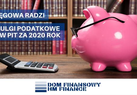 KSIĘGOWA RADZI - ulgi podatkowe w PIT za 2020 rok!