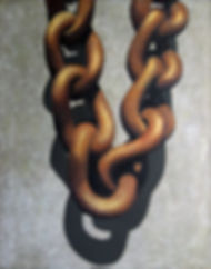 In chains, 100x80, 2010, oil on canvas