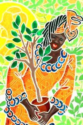 "WANGARI MAATHAI  Inspired  ""Hummingbird"" Lesson"