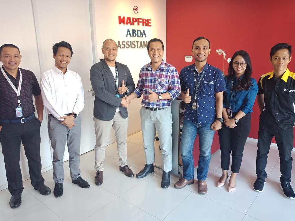 Jajaran direksi Mapfre ABDA Assistance dan Brum