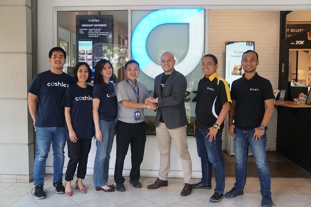 CEO Brum Indonesia, Bagus Mahadityo dan CEO Cashlez, Teddy Tee