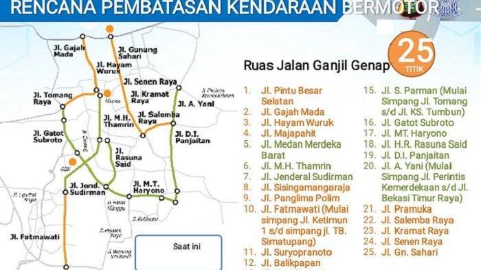 Peta Ganjil Genap Jakarta | brum.id