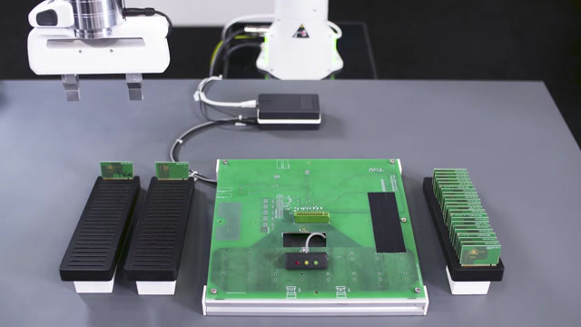 PCB testing, Voith robotics for Infineon