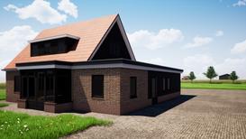 Visualisatie aanbouw - Kootwijkerbroek
