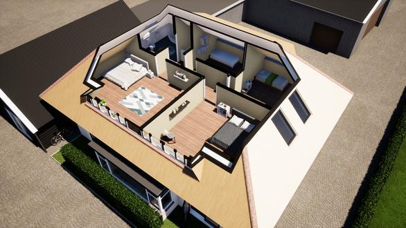 Indeling bovenverdieping bij renovatie - Ederveen