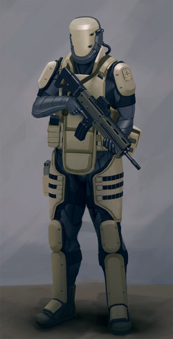 Second Revision Powered Light Armour