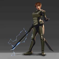 Swordswoman Design