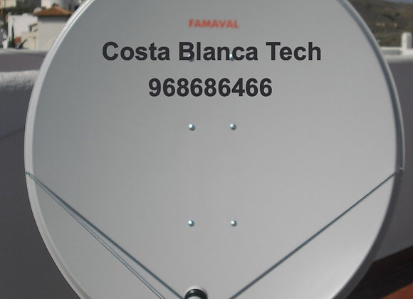 1.4 famaval Offset dish Satellite Dish for Murcia and Alicante