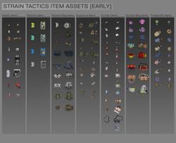 Strain Tactics Item Line up