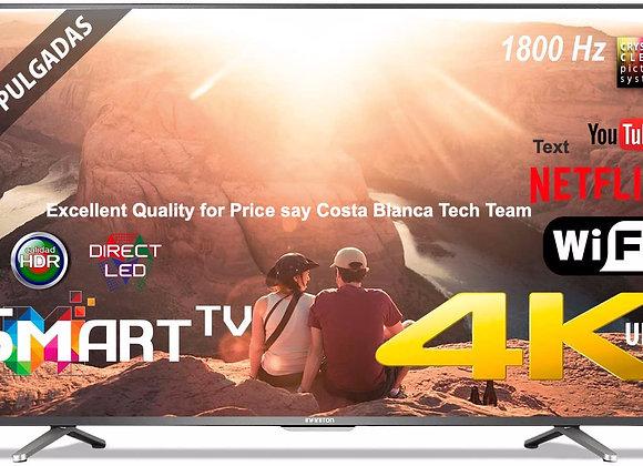 INTV 4K 55 INCH Tv4K INTV-55 WiFi Smart TV 1800Hz HDR USB HDMI