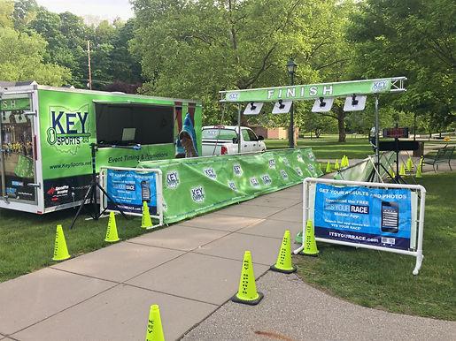 Key Sports RFID finish line setup in Dayton Ohio