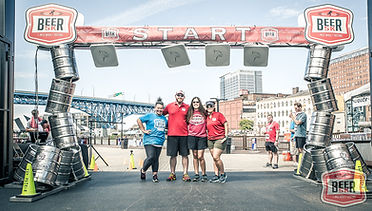 Key Sports running event start line for the Beer 5K in Cleveland Ohio