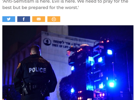"""Media Shoutout: From Freebeacon, """"Some in Jewish Community Advocate Bearing Arms After Pittsburgh."""""""