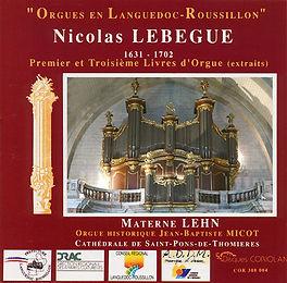 Materne Lehn - N. Lebègue - Orgue de St Pons de Thomières