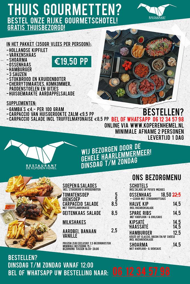 Advertentie gourmetpakket en kh 1 pagina