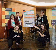 Oregon students presenting at a conference.