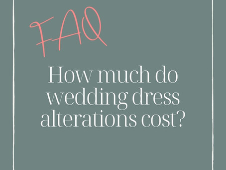 How much do wedding dress alterations cost?