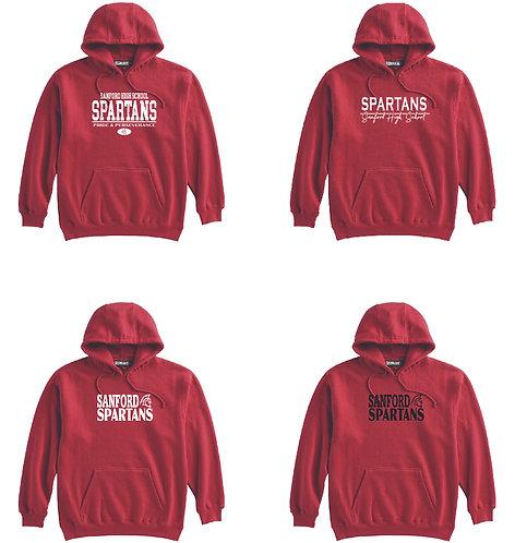 701 super-10 hoodie - RED