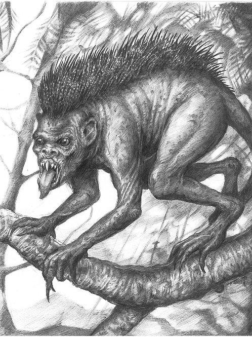 Creature Collection Print: Chupacabra