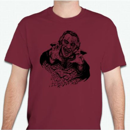 Classic Burning Vampire Horror T-Shirt