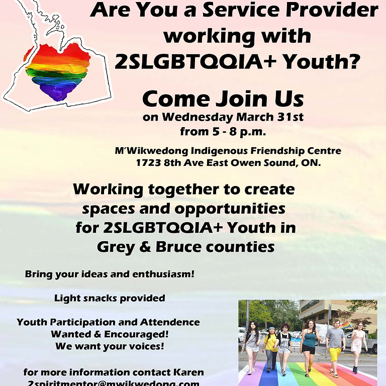 2SLGBTQQIA+ Youth Brainstorming Meeting for Youth & Service Providers