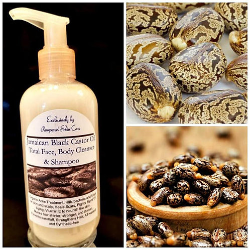 Jamaican Black Castor Oil Total Face, Body Cleanser & Shampoo