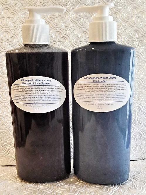Ashwagandha Winter Cherry Shampoo/Skin Cleanser Set