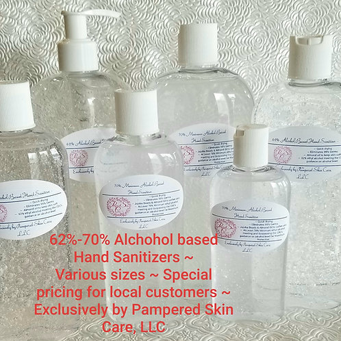 Alcohol Based Hand Sanitizer ~ 62%-70% Ethyl Alcohol