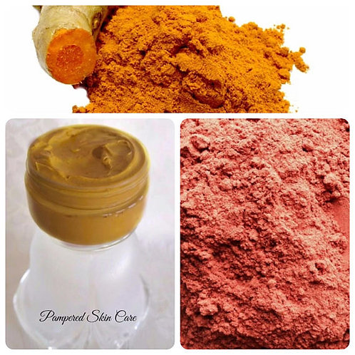 Tumeric & Rose Kaolin Clay Face Mask with Sandalwood