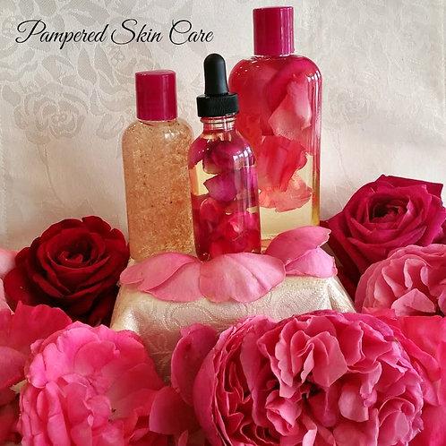 Floating Rose Petal Bath & Beauty Set