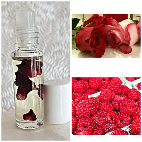 Raspberry Rose Petal Nourishing Lip Oil ~