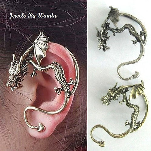 Ancient Dragon Bite Earring Cuff ~