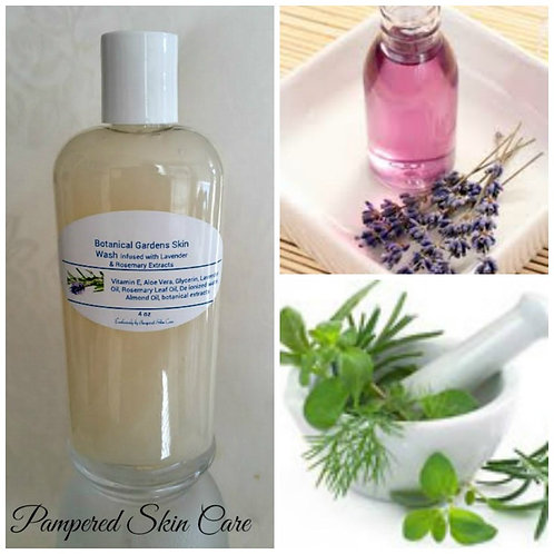 Botanical Gardens Skin Wash Infused with Lavender & Rosemary Extracts - 4 oz Bot