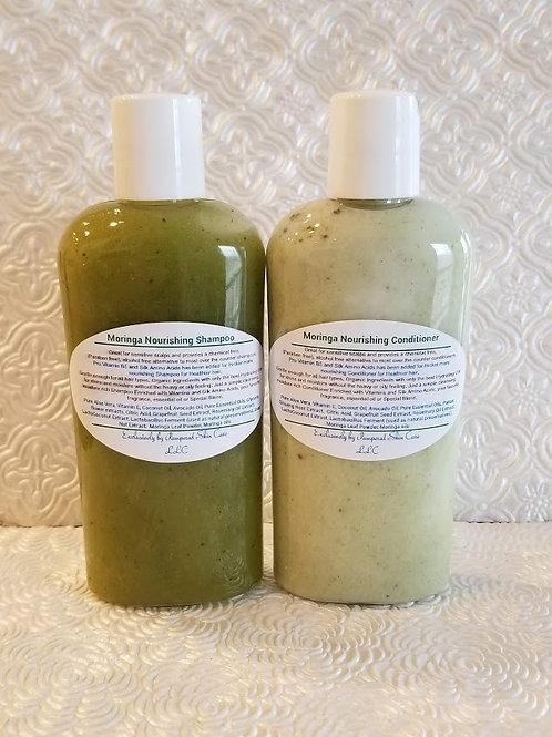 Moringa Nourishing Shampoo/Conditioner Set ~ Amino Acids, Zinc