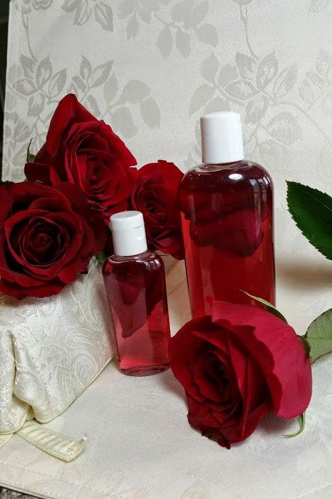 Pure Rose Water - 4 oz Bottle - Organic, 100% Natural, No Additives, No Preserva